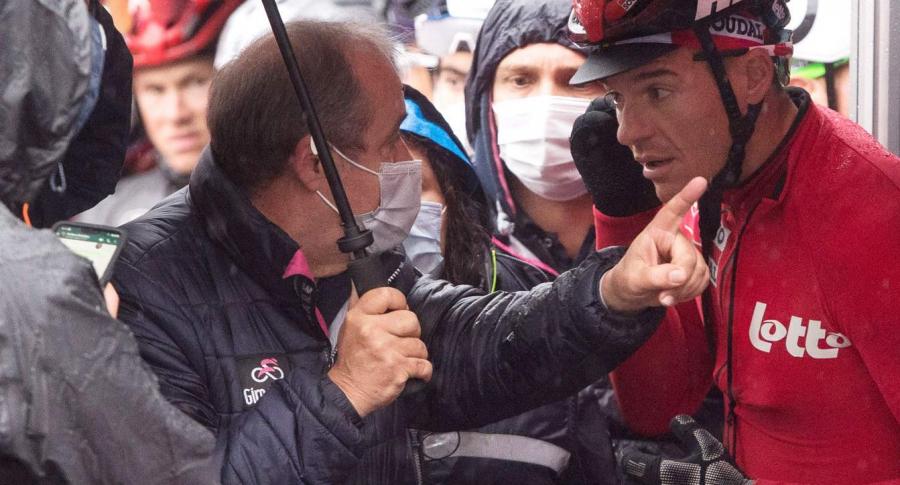 Amenazas a ciclistas de Mauro Vegni, director del Giro de Italia