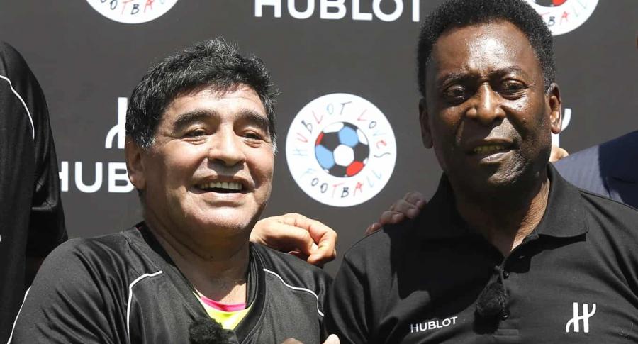 Maradona felicita a Pelé por su cumpleaños 80. Imagen dereferencia.