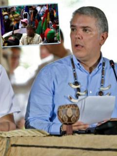 Respuesta a líder indígena que llamó 'narcoparamilitar' al Gobierno de Duque