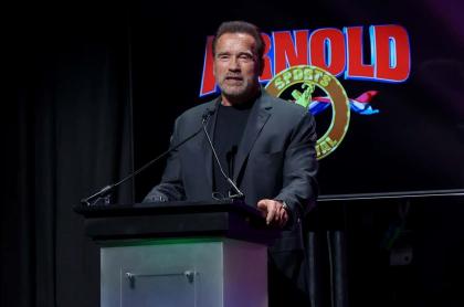 Foto de Arnold Schwarzenegger, quien fue hospitalizado
