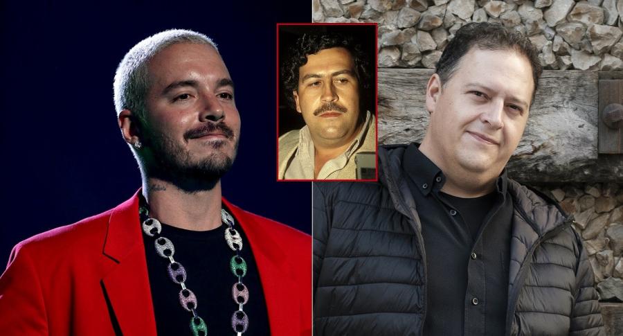 El cantante J Balvin, Pablo Escobar y su hijo Juan Pablo Escobar, a propósito de que J Balvin habló de su amistad con el hijo del narcotraficante (fotomontaje Pulzo).