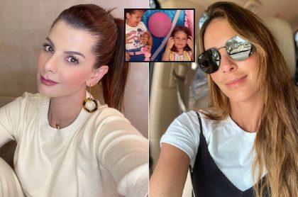 Selfis de Carolina Cruz y Carolina Soto, presentadoras a las que les hicieron montaje de mechoneada con pelea de niñas en cumpleaños (fotomontaje Pulzo).