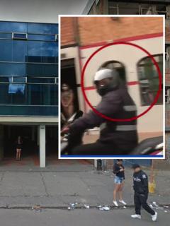 Zona de tolerancia de la localidad de Santa Fe, en el centro de Bogotá, donde periodistas de Noticias Caracol fueron rodeados e intimidados por presuntos delincuentes en moto.