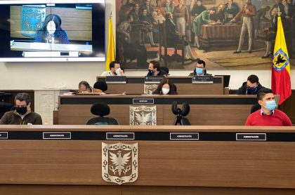 Concejo de Bogotá en medio del debate, donde se aprobó el 'Plan Marshall' de Claudia López.