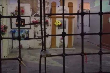 Captura de pantalla de tumba que profanaron en Soledad, Atlántico