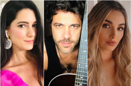 Fotomontaje de Daniela Donado, Juan Manuel Mendoza y Melina Ramírez, a propósito de la reacción a romántica foto del actor y la presentadora