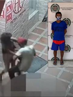 Imágenes del momento de la agresión y de la captura del victimario