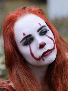 Ilustración de maquillaje de Haloween.