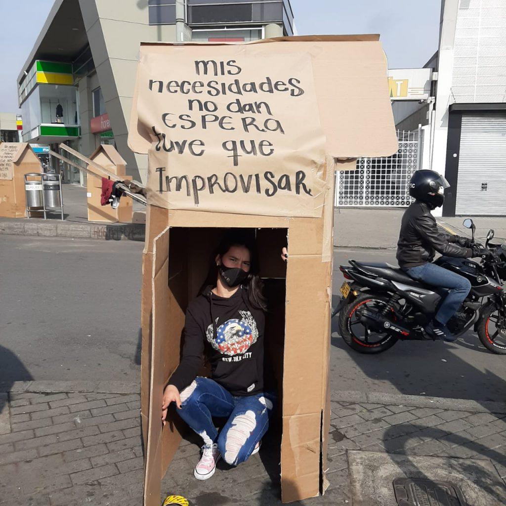 Protesta cerca a los Outlets de Las Américas / Cortesía