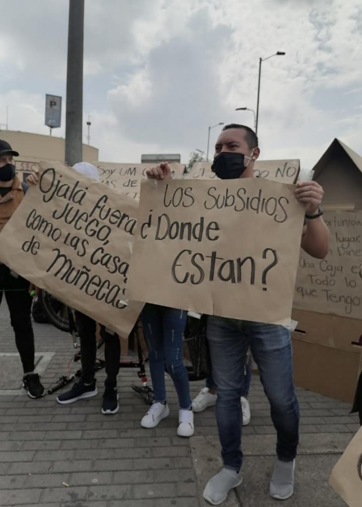 Protesta cerca a los Outlets / Cortesía de Las Américas