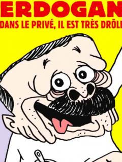 Charlie Hebdo caricaturiza a presidente turco y causa su ira.