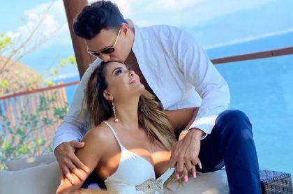 Ninel Conde y su prometido Larry Ramos, empresario colombiano.