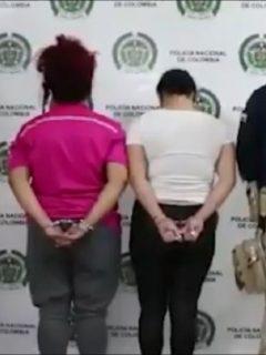 Imagen de las dos mujeres venezolanas capturadas por explotación de una bebé en Bucaramanga