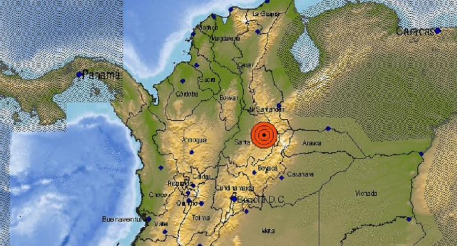 Un temblor de 4,6 grados sacudió Los Santos, Santander, la noche de este 28 de octubre.