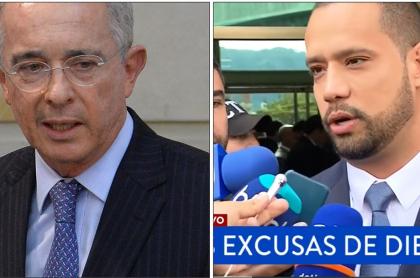 Álvaro Uribe y Diego Cadena
