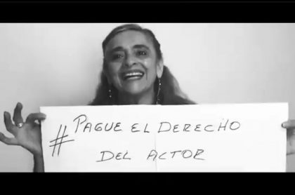 Actriz que exige a cableoperadores de televisión en Colombia que les pague por su trabajo
