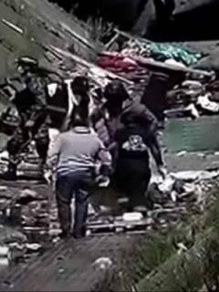 Imagen del caño en Los Comuneros (en Bogotá), donde fue hallado un cadáver.