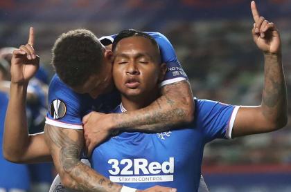 Con gol de Morelos, Rangers vence 1-0 a Lech Poznan en Liga de Europa.