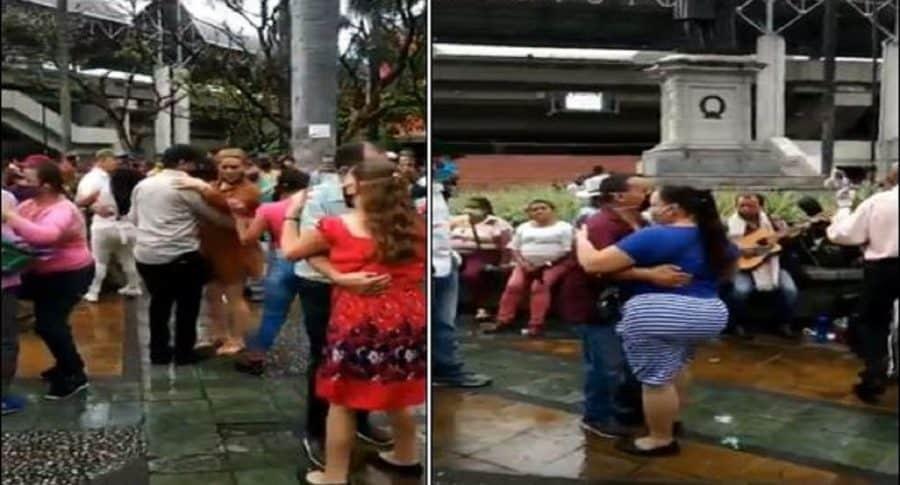 Imágenes de la fiesta en el Parque Berrío por el que el alcalde de Medellín hizo un llamado al autocuidado