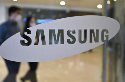 Logo de Samsung para ilustrar nota de las utilidades de la empresa.
