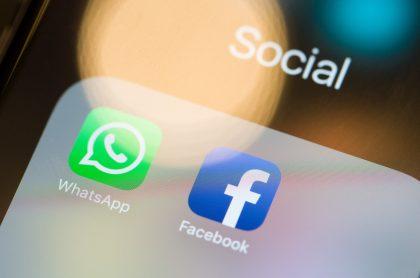 Logotipos de WhatsApp y Facebook para ilustrar nota sobre las aplicaciones con más intentos de 'phishing'