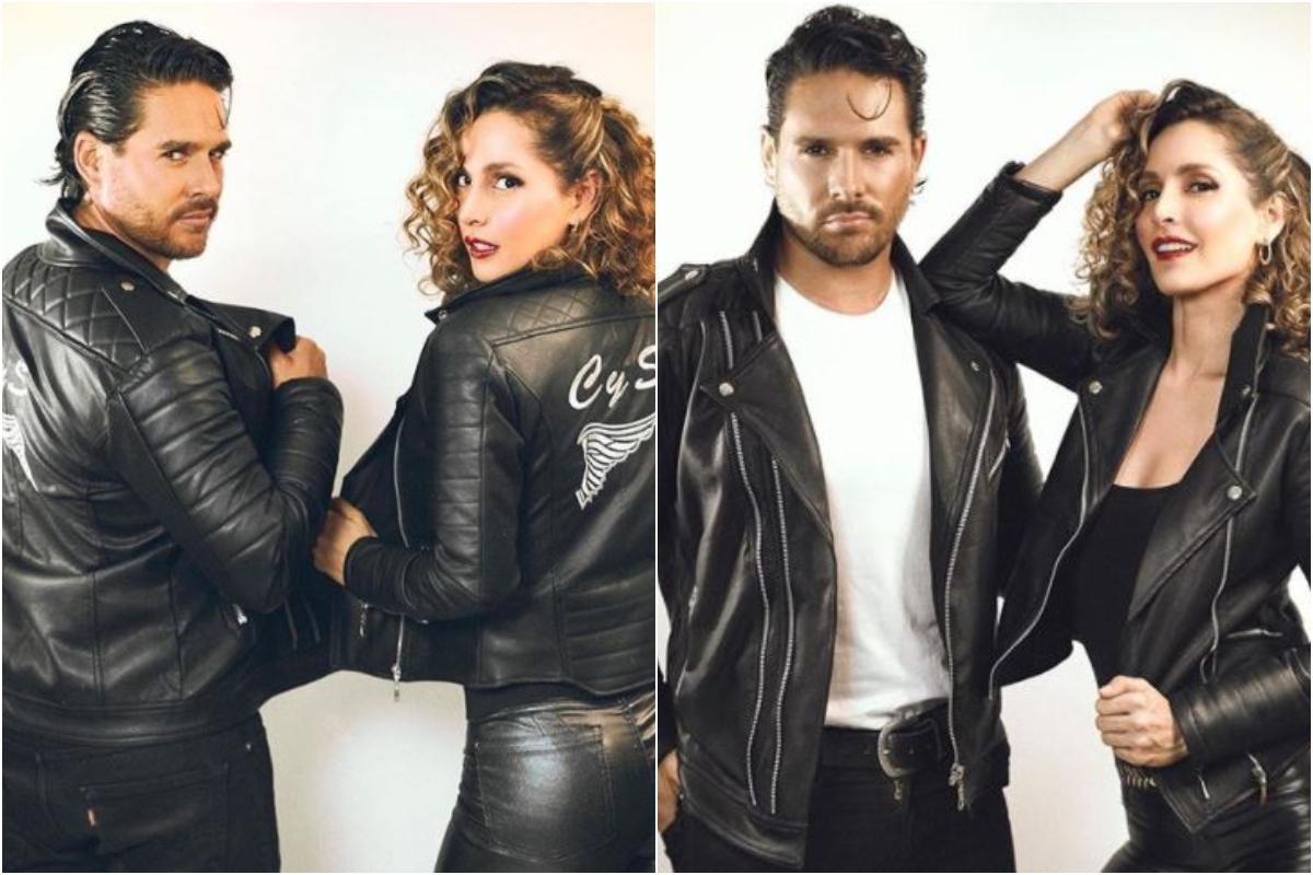 Actores Carmen Villalobos y Sebastián Caicedo disfrazados