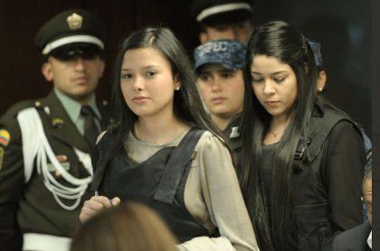 Laura Moreno y Jessy Quintero durante el proceso por la muerte de Luis Andrés Colmenares.