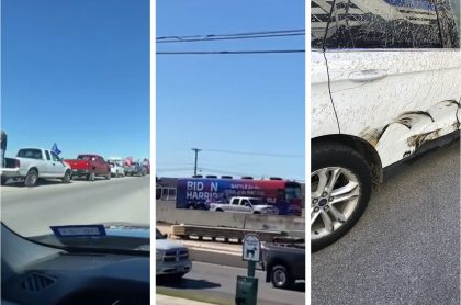 En la carretera San Antonio-Austin (Texas), una caravana de la campaña de Joe Biden fue emboscada por simpatizantes de Donald Trump, hechos que son investigados por el FBI.