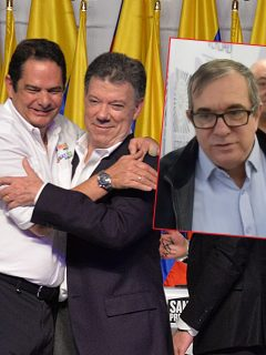 Germán Vargas Lleras, Juan Manuel Santos y Rodrigo Londoño, alias 'Timochenko'. (Fotomontaje de Pulzo)