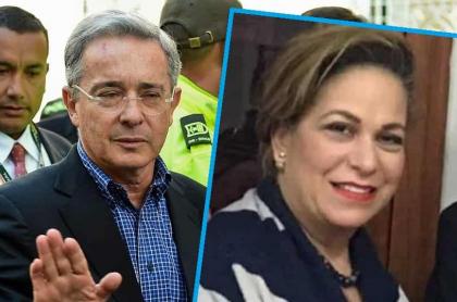 Álvaro Uribe, que habló sobre audios de su exasesora 'Caya' Daza, y ella. (Fotomontaje de Pulzo)