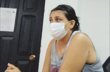 Leidis Yasmín Bautista, mujer acusada de matar al marido en una pelea, en audiencia