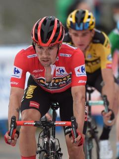 Primoz Roglic en la etapa 1a de la Vuelta a España 2020; clasificación general.