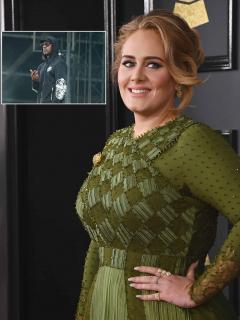 Fotomontaje de Adele y Skepta, a propósito de su noviazgo