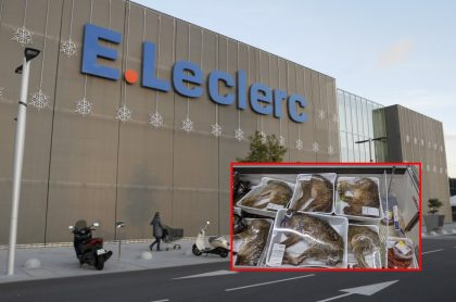 Polémica en Francia porque supermercado E.Lecrerc vende animales enteros en bandejas