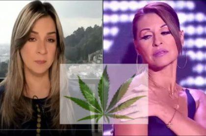 Vicky Dávila y Amparo Grisales dividen opiniones por el uso de la marihuana recreativa