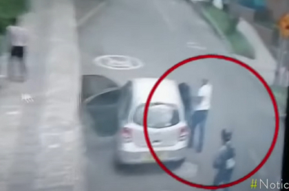 Imagen del robo exprés en Medellín.