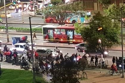 Este sería el sector en el que un bus dual de Transmilenio atropelló a un ciclista este 5 de noviembre.