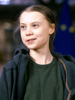 El presidente estadounidense Donald Trump y la activista ambientalista Greta Thunberg.