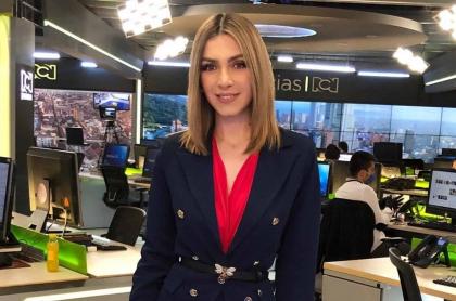 Foto de Maritza Aristizábal, presentadora de Noticias RCN que está embarazada