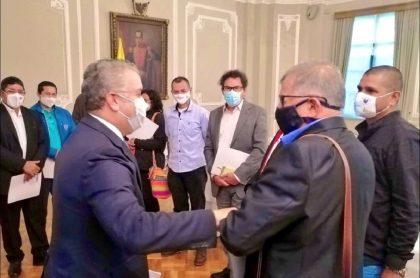 Imagen de la reunión del presidente Duque con excombatientes de las Farc