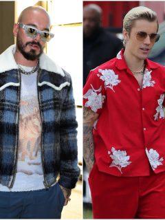 Fotomontaje de J Balvin y Justin Bieber, a propósito de sus estrenos musicales