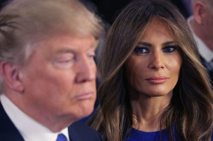 Foto de Melania Trump y de Donald Trump, apropósito de los resultados electorales en Estados Unidos.