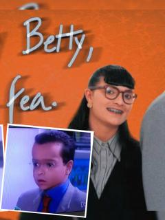 Afiche promocional de 'Betty, la fea', cuyos personajes pasaron por el filtro de Snapchat que los hace lucir como niños.