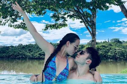 Bailarina Diana Correa junto a su novio, el actor Sebastián Gutiérrez