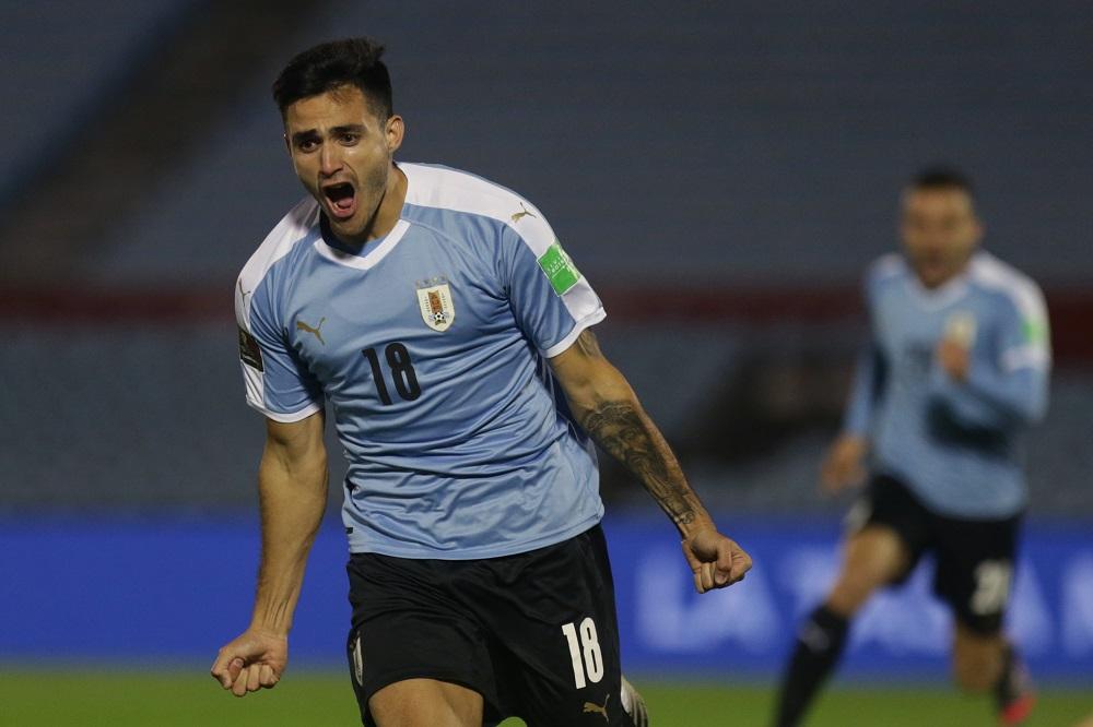Eliminatorias sudamericanas: imagen de Maximiliano Gómez, quien no estará en las fechas 3 y 4.