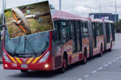 Imagen de ilustración de accidente de bus de Transmilenio que arrolló a niña en bicicleta