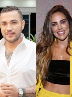 Foto de Jessi Uribe y Sara Corrales, a propósito de la canción que estrenó él.