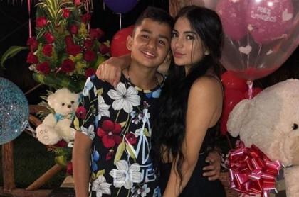 Luisa Castro y su hermano Alejandro en el cumpleaños de la 'influenciadora'.