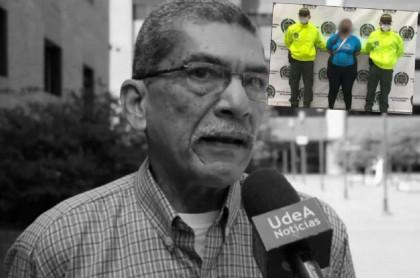 Campo Elías Galindo, asesinado en Medellín el 28 de septiembre, y la mujer capturada