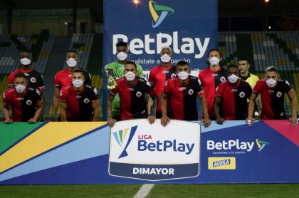 El Cúcuta Deportivo, que tendrá que ser liquidado, durante la Liga BetPlay.